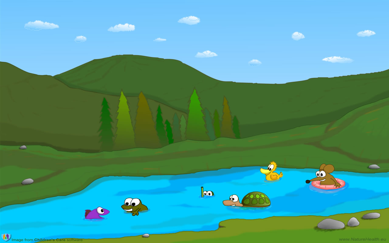 lake clipart cartoon
