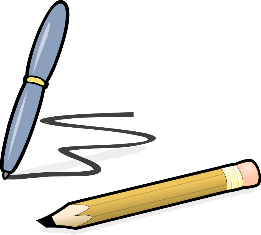 paper and pencil clipart vector