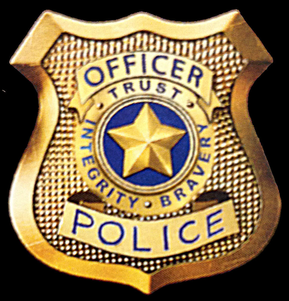 Police badge clipart simple.