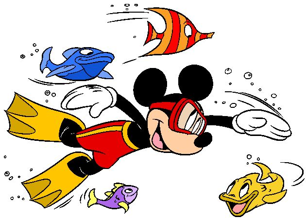 Swimming clipart mickey.