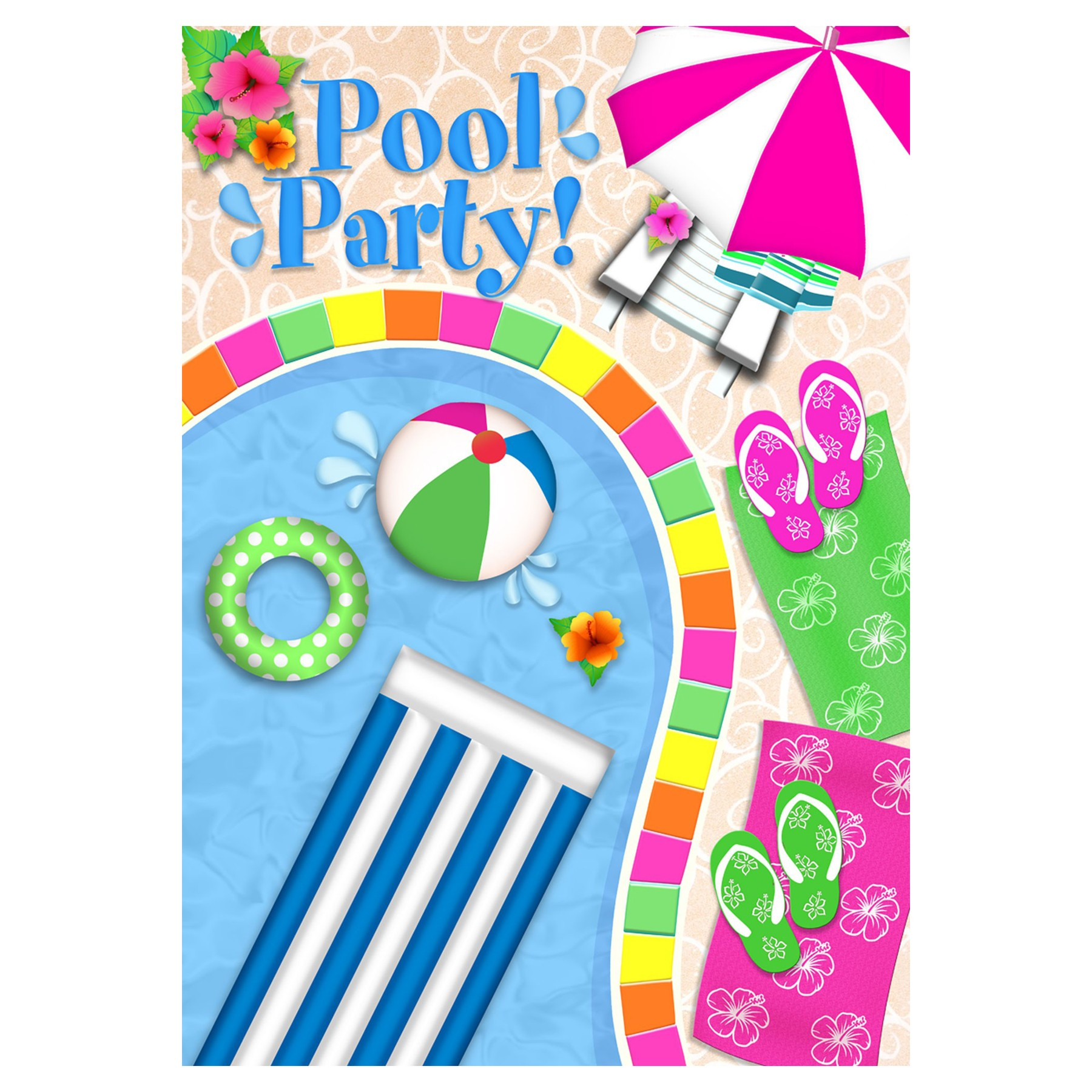 pool party clipart poolside