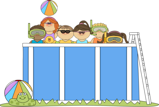 pool party clipart inground
