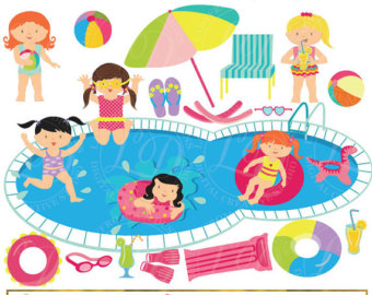 pool party clipart cute