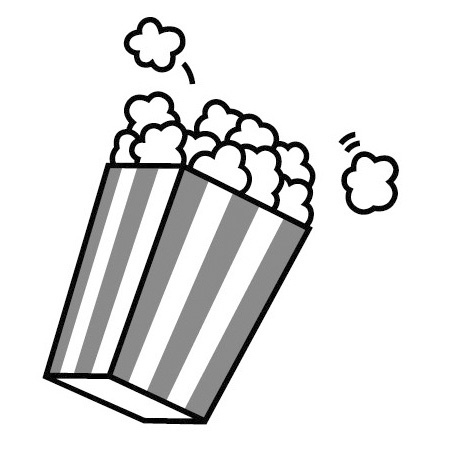 popcorn clipart black and white bucket