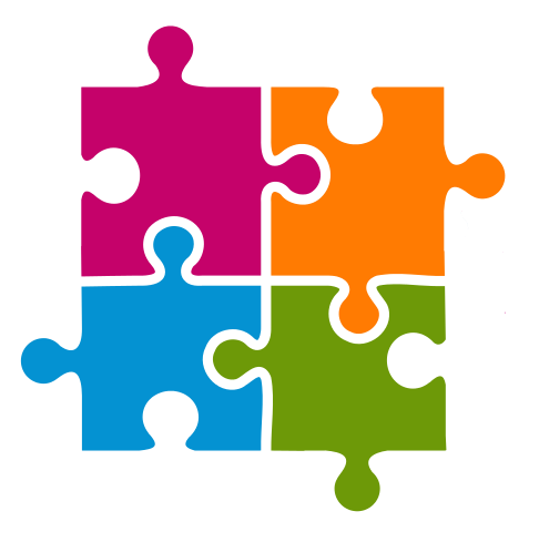 puzzle clipart colorful