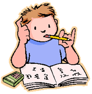 kid clipart studying