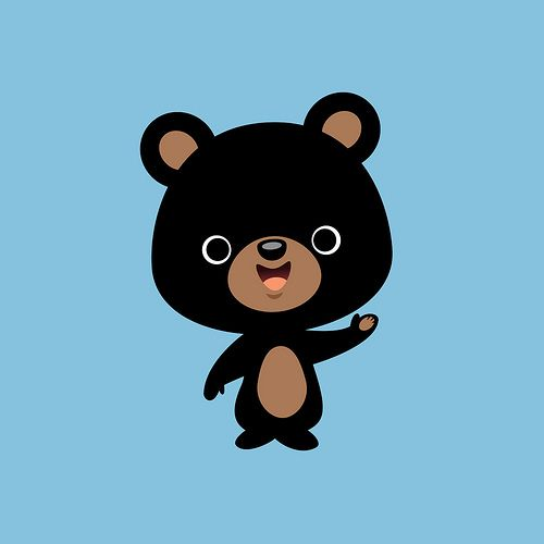 black bear clipart cartoon