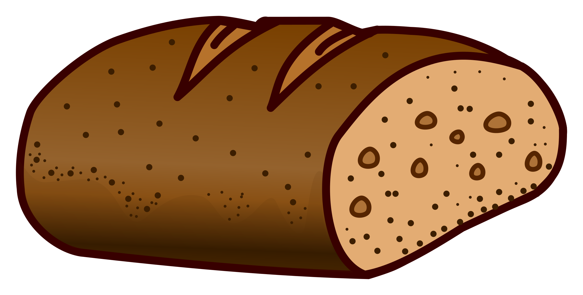 Loaf of bread clipart garlic.