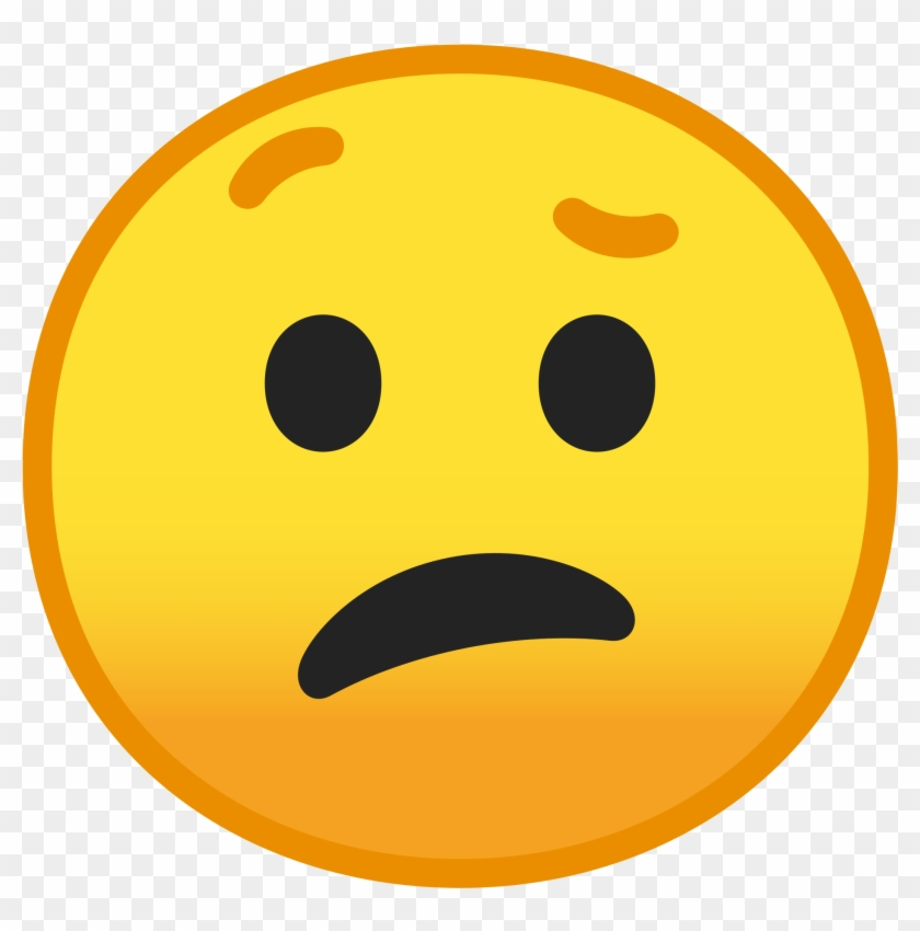 Confused emoji clipart expression.