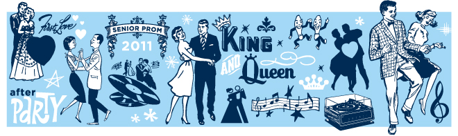 Prom clipart banner.