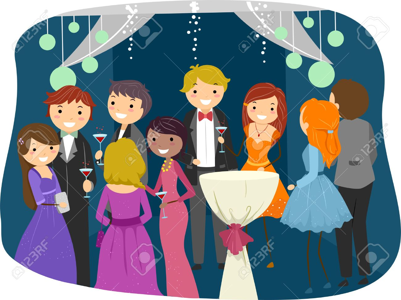 Prom clipart animated.