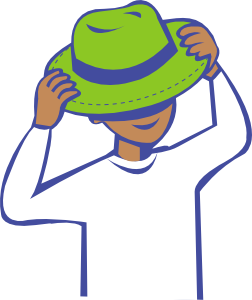 put on clipart clothes