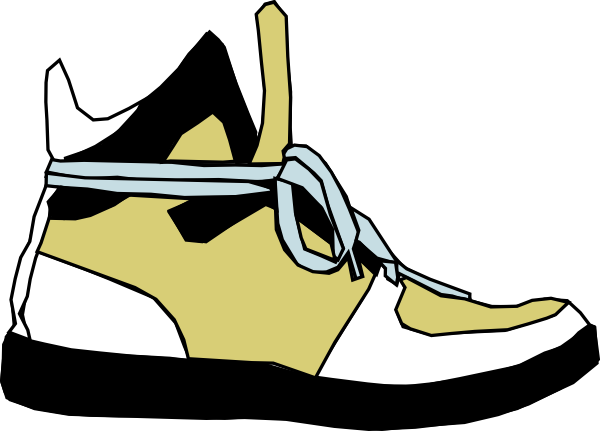 put on clipart shoes