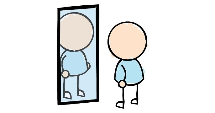 Reflections clipart self confidence.