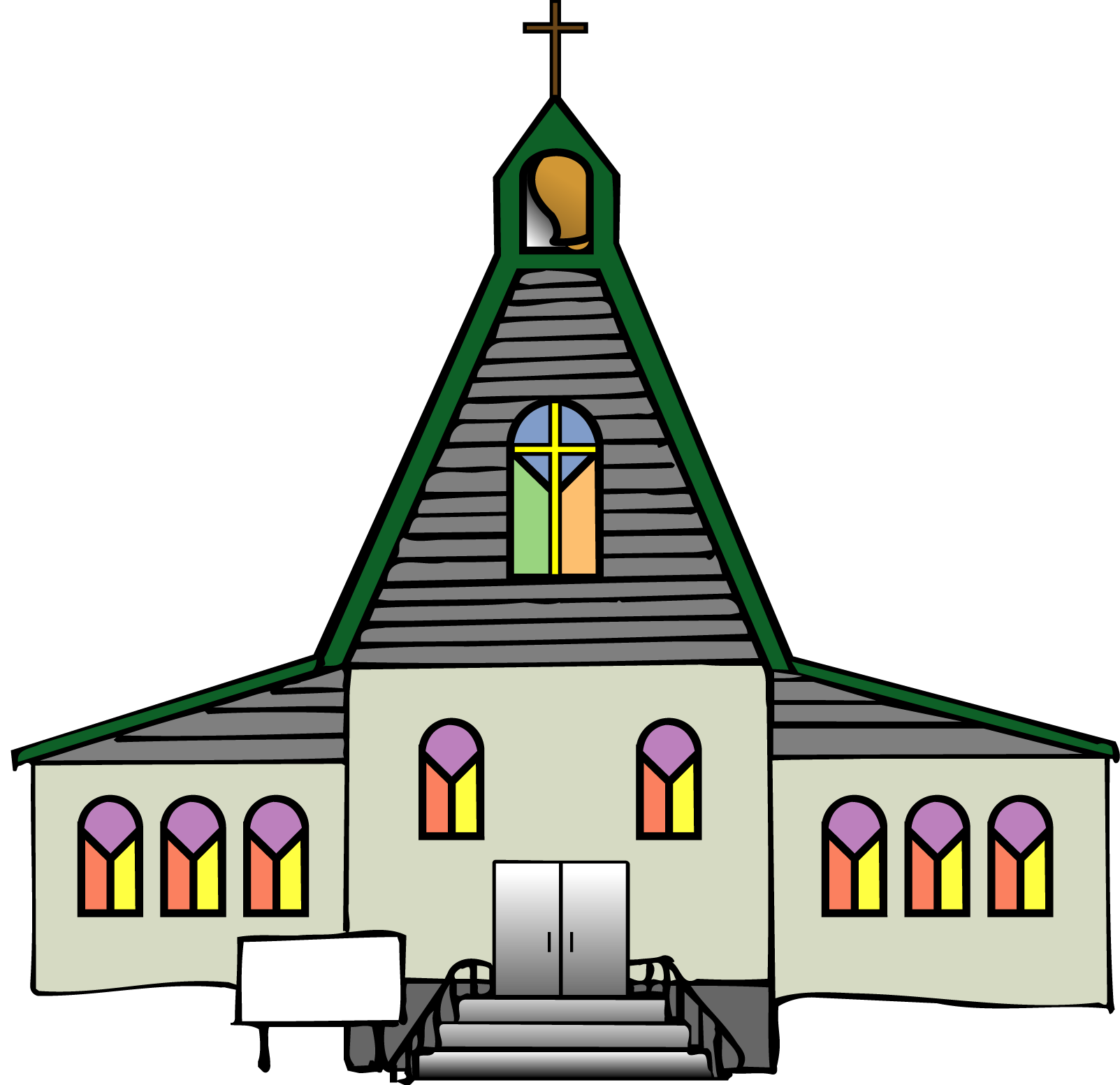 free church clipart drawing