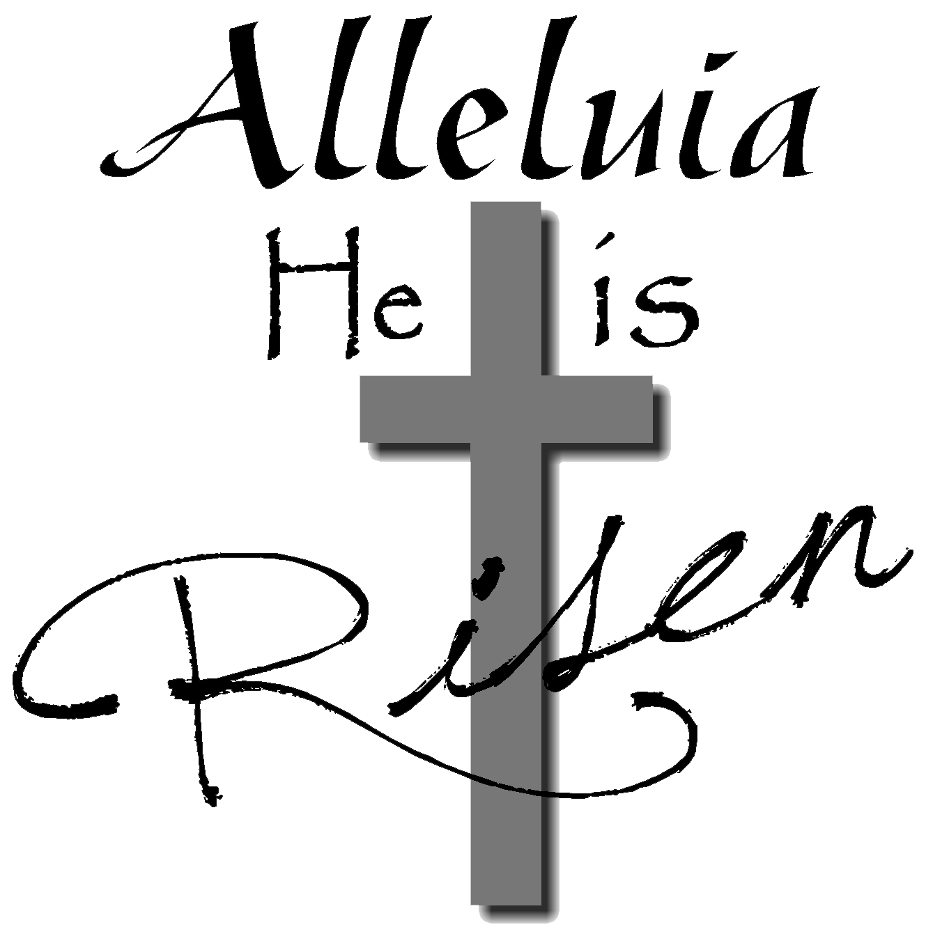 easter black and white clipart religious