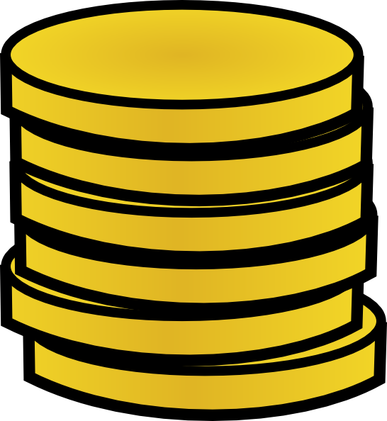 penny clipart stack