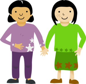 friends clipart two