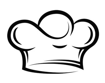 chef hat clipart black