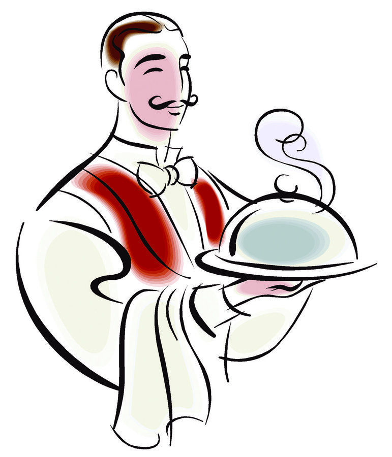 waiters clipart catering