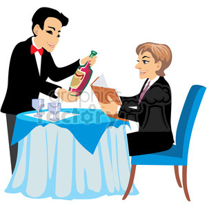 waiters clipart wine