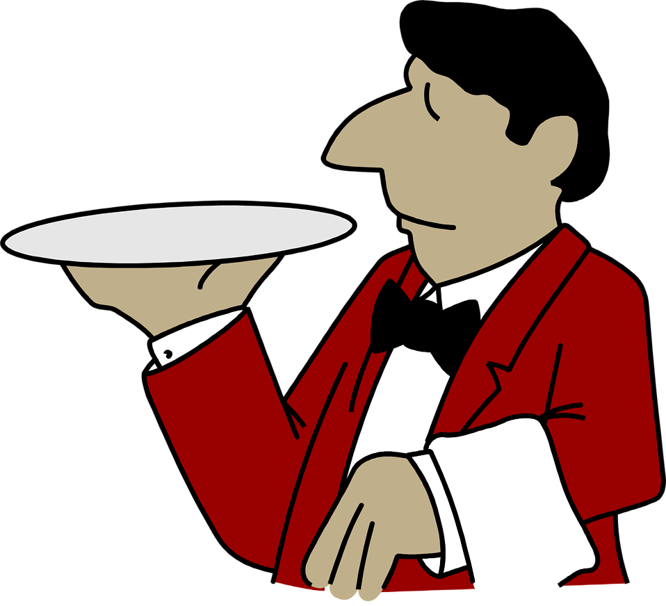 waiters clipart illustration