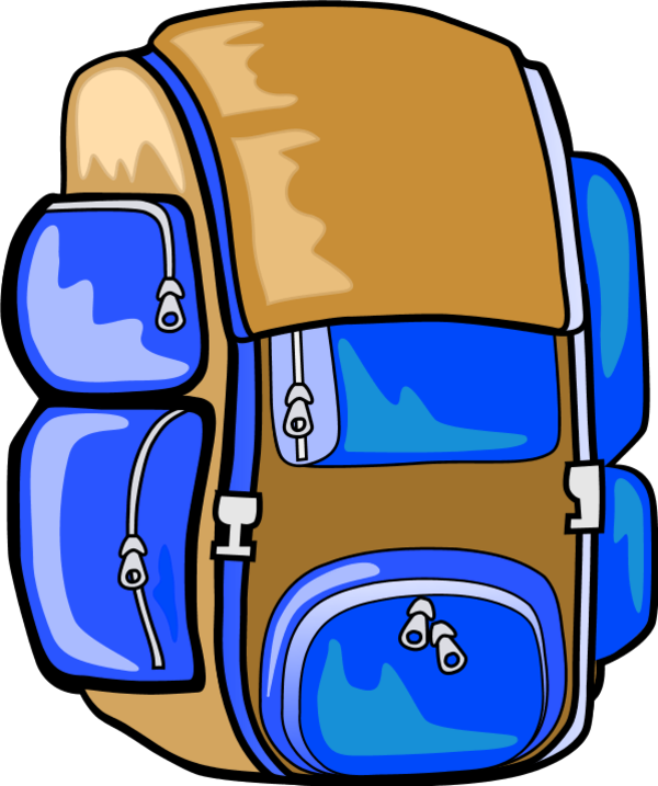 backpack clipart hiking