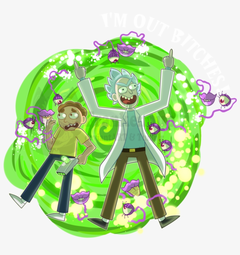 rick and morty portal clipart spaceship