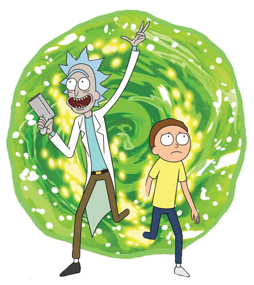 rick and morty portal clipart vector