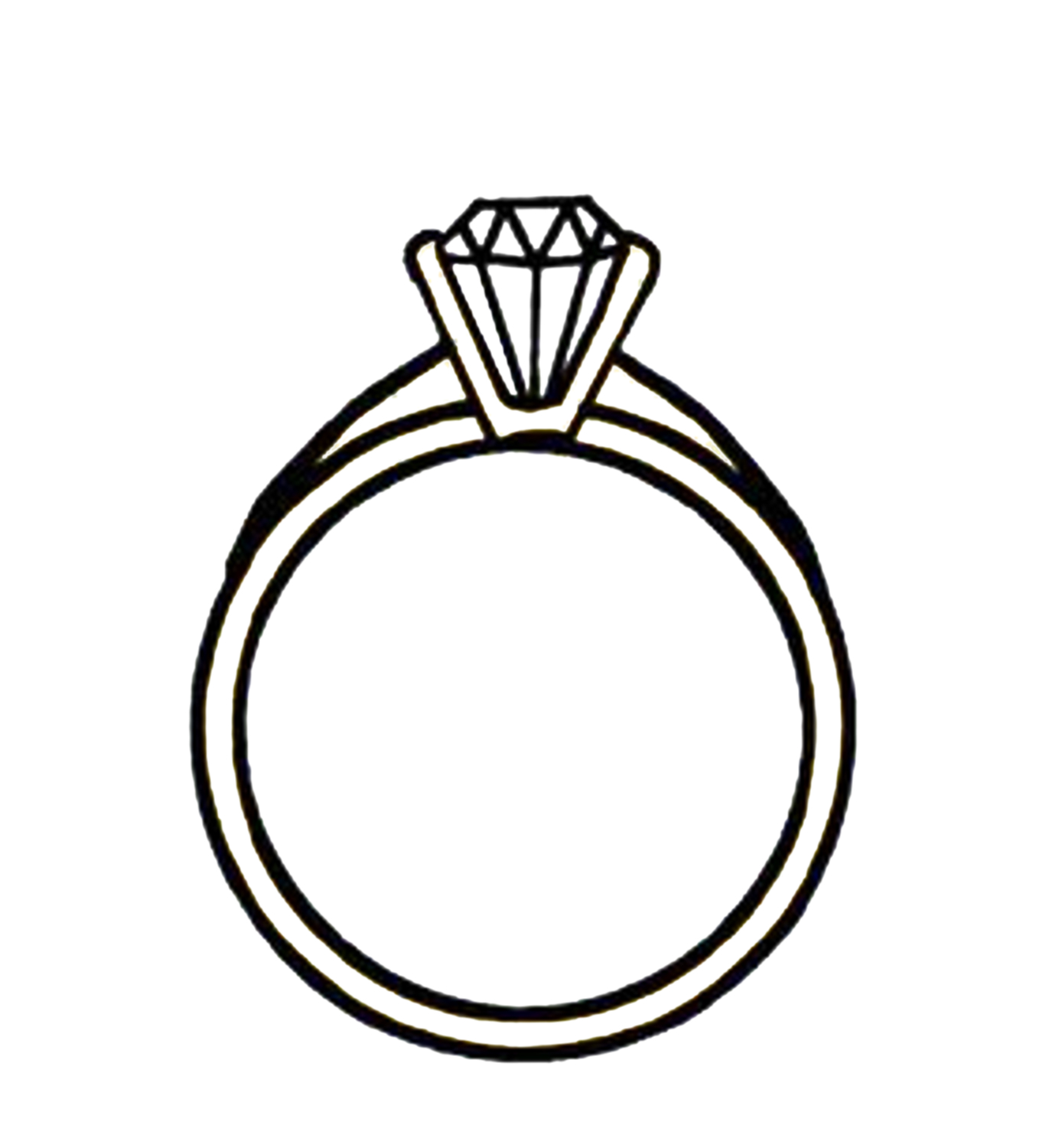 ring clipart silhouette