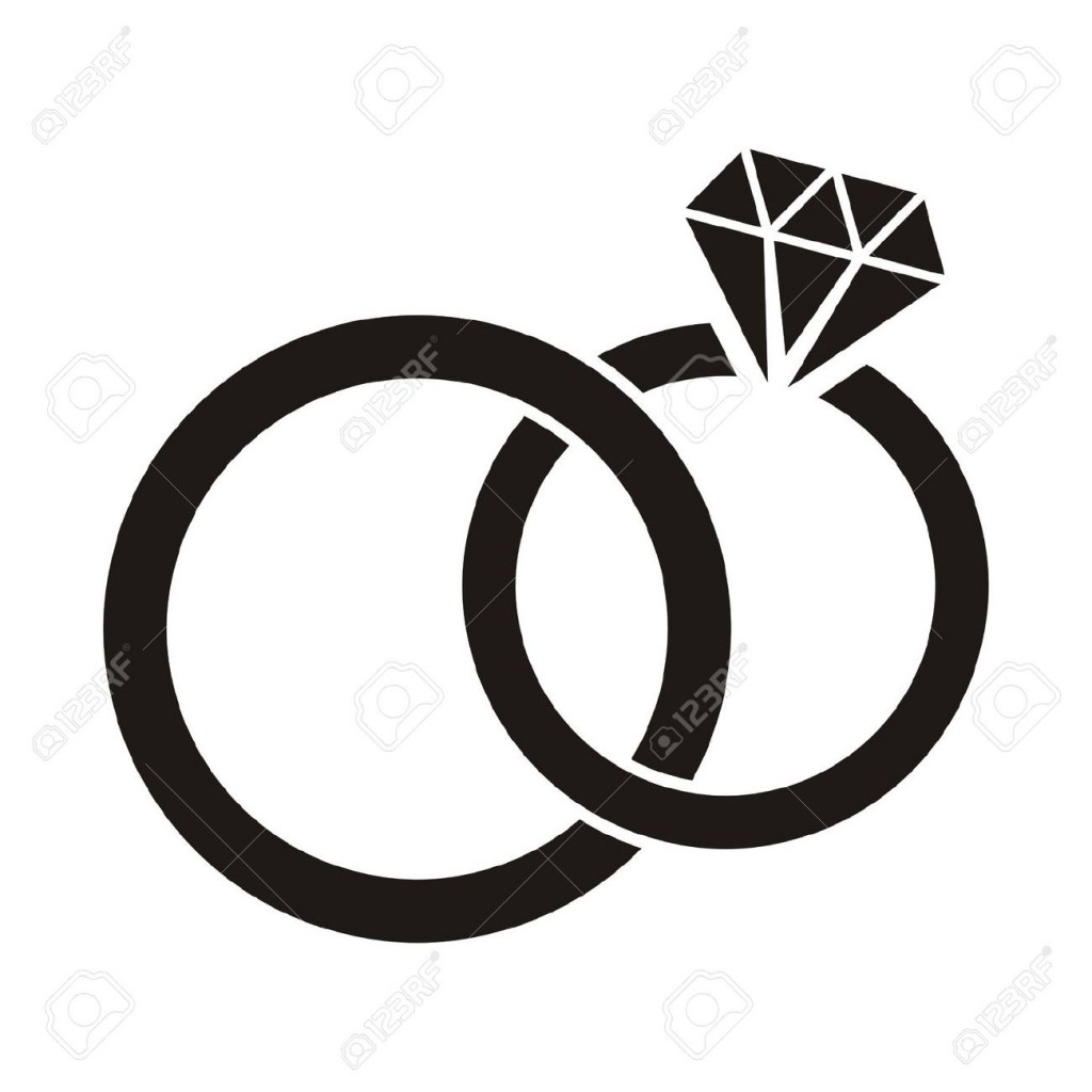 Rings clipart silhouette vector.