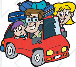 road trip clipart family