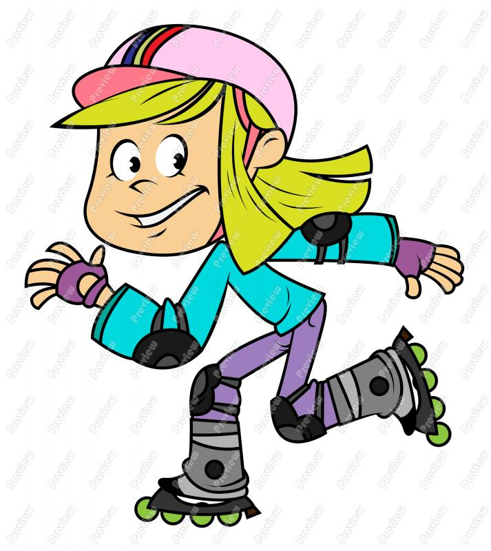 rollerblading clipart vector
