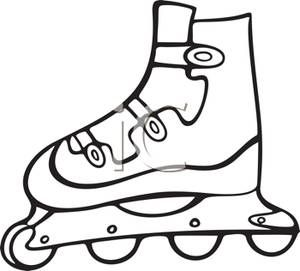rollerblading clipart white