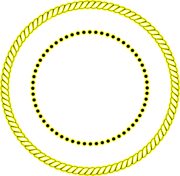 Rope clipart gold circle.