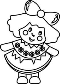 doll clipart outline