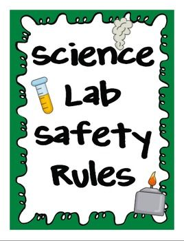 Rules clipart science lab.