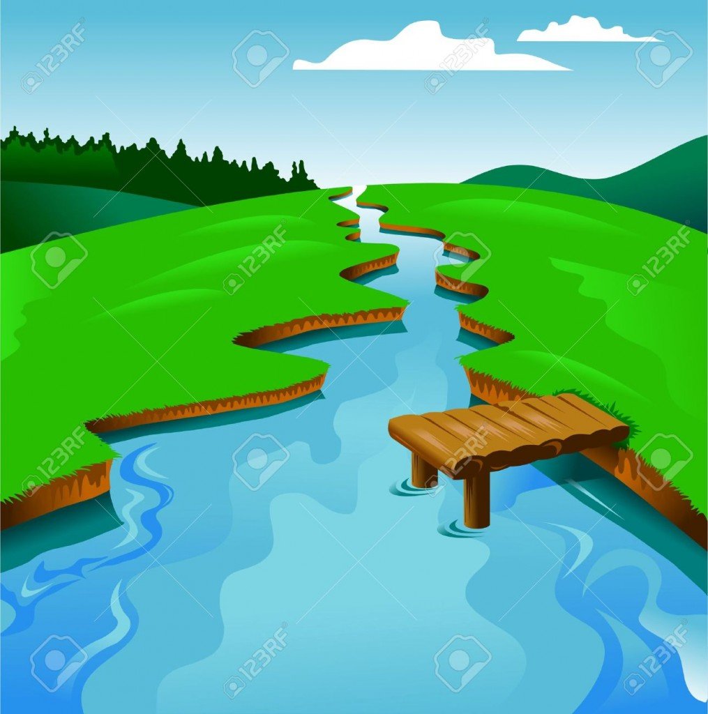 river clipart flowing