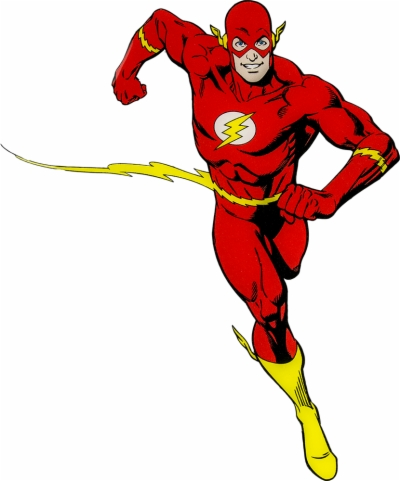 the flash clipart running