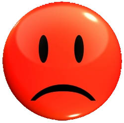 sad face clipart red