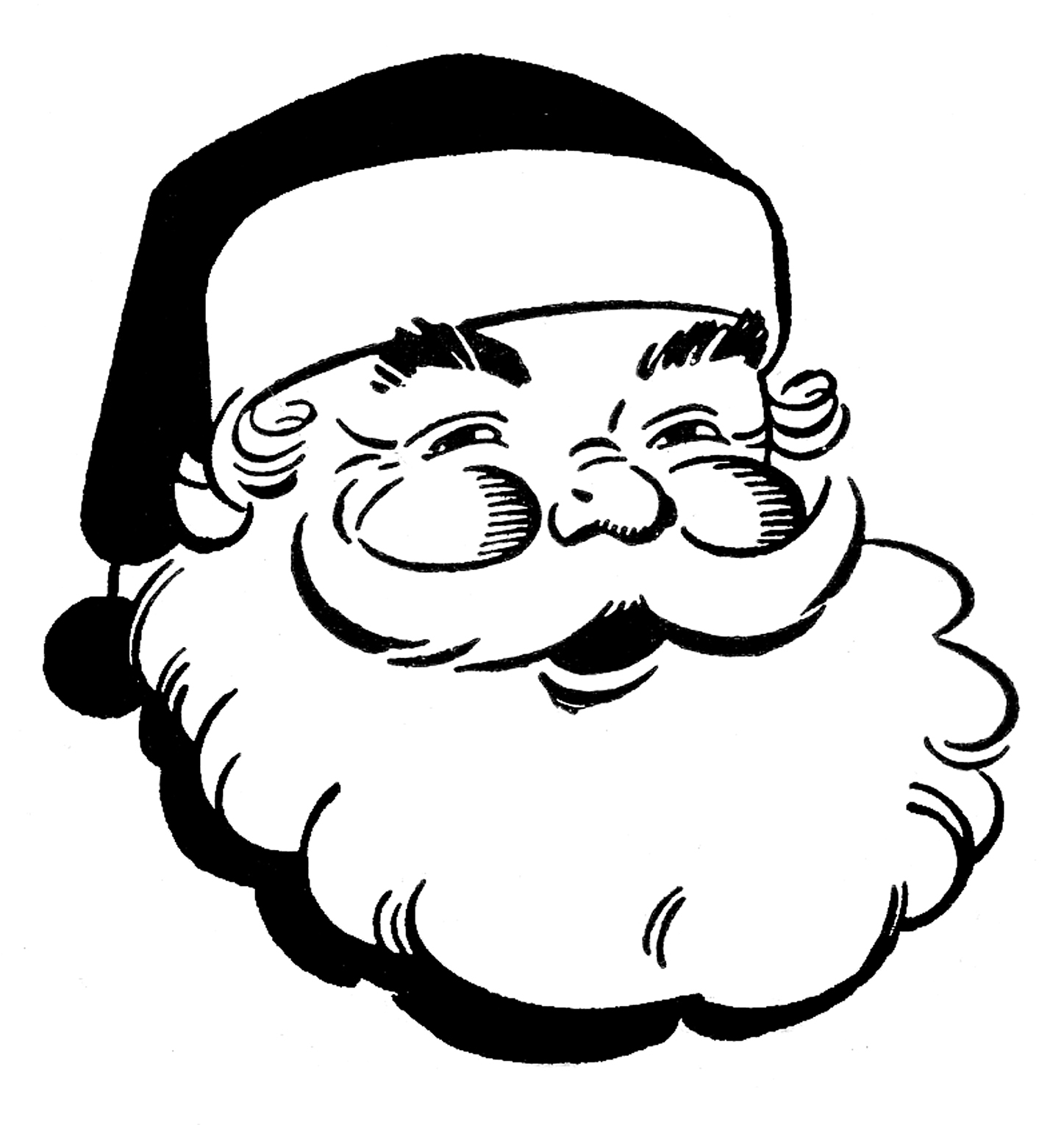 christmas clipart black and white cute