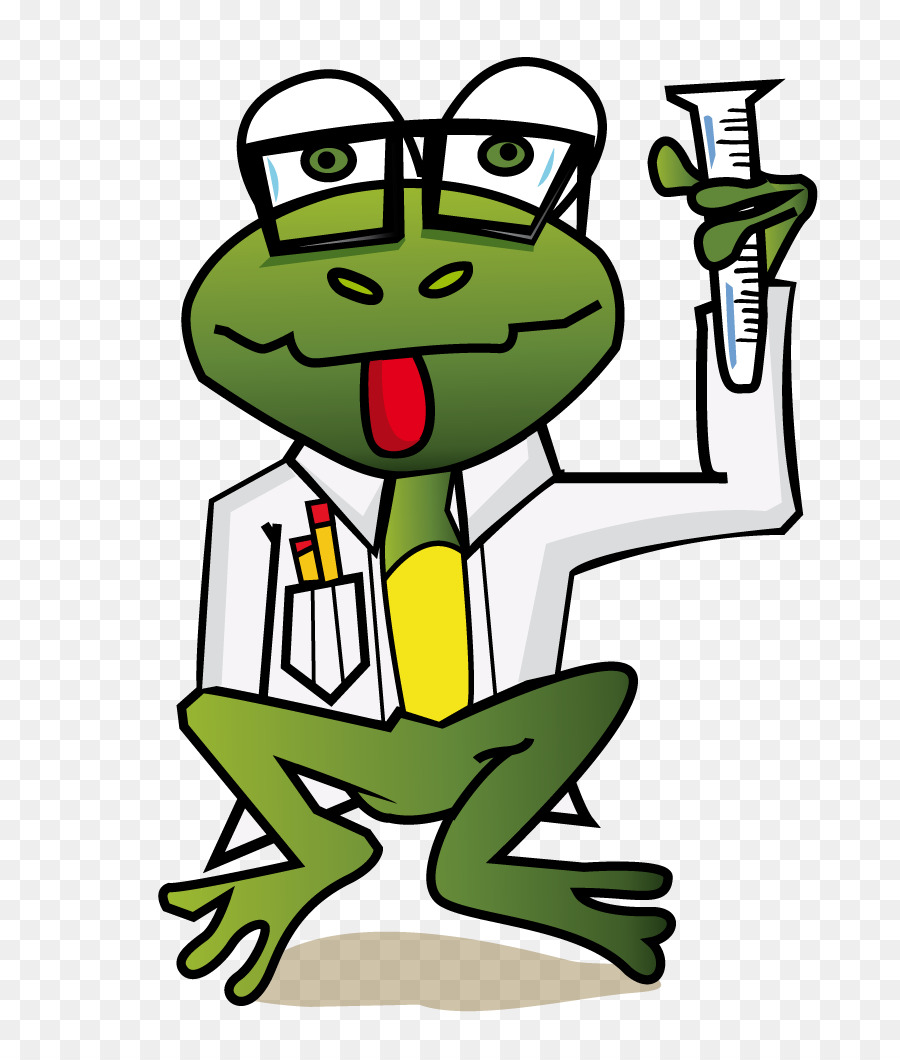 Scientist clipart frog.