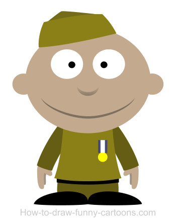 soldier clipart simple