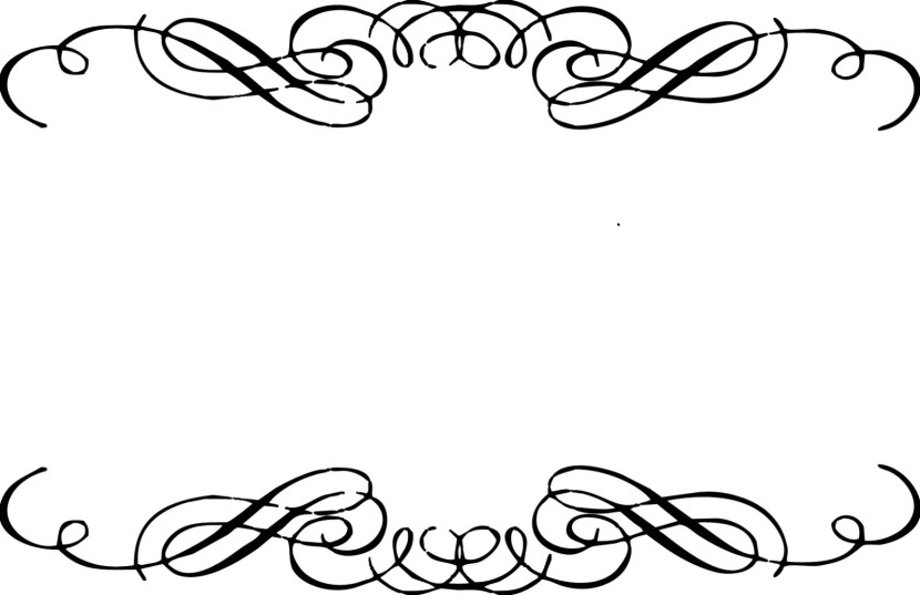Scrollwork clipart border marriage indian.