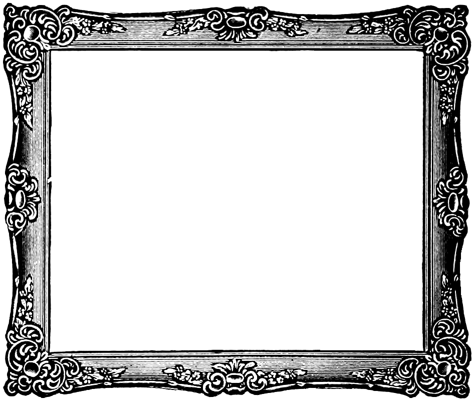 picture frame clipart square