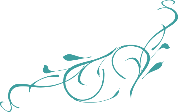 scroll clipart teal