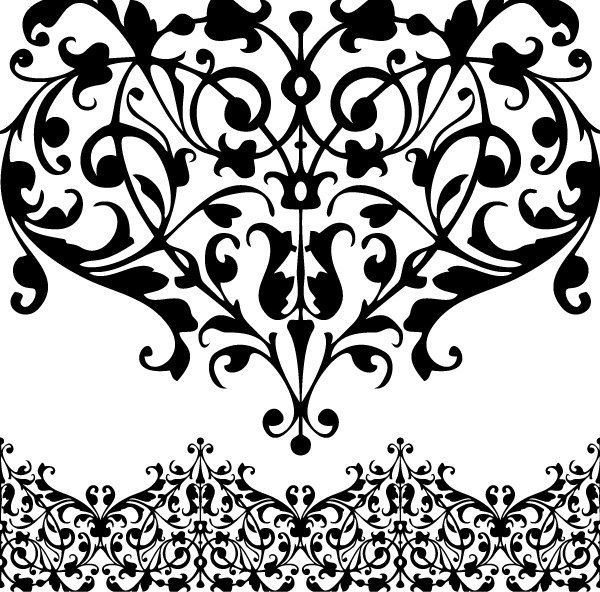 Scrollwork clipart lace.