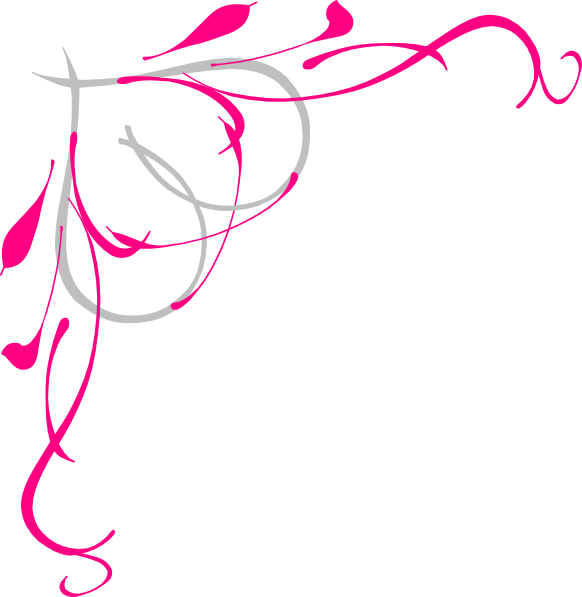 Scrollwork clipart side border.