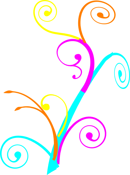 swirl clipart colorful