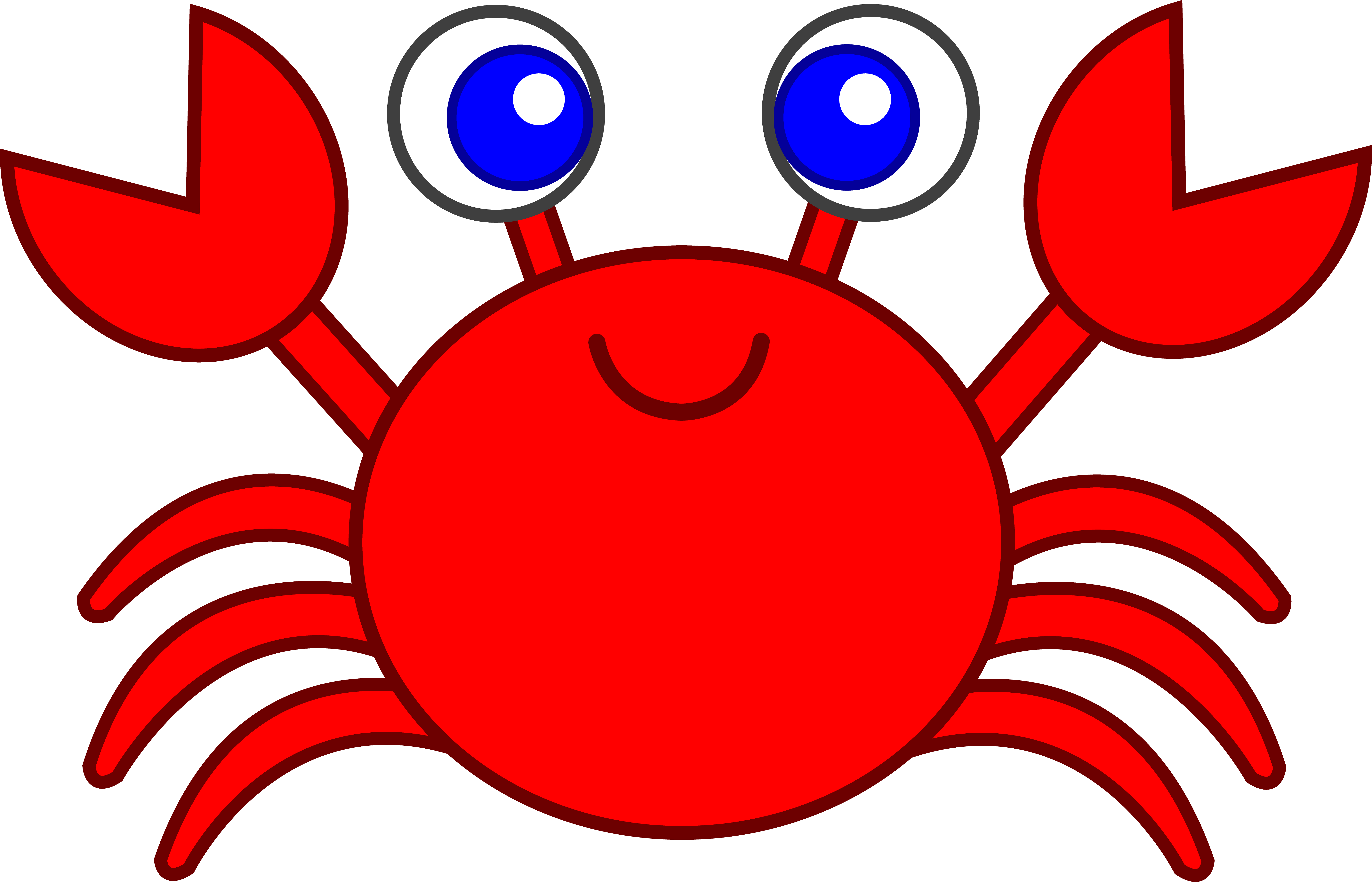 crabs clipart top view